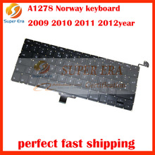 "new original A1278 norway keyboard for Apple Macbook Pro 13"" A1278 2009 2010 2011 2012 Norwegian Norway Nordic Keyboard(China)"
