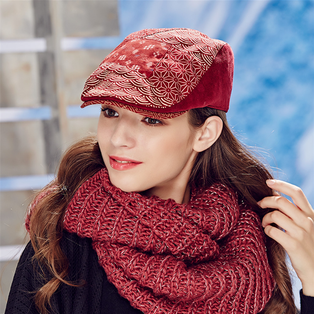 Kenmont  Autumn Spring Womens Baseball Cap  Ladies Printed Retro Sports Hat Visor Cotton Adjustable 2406<br>