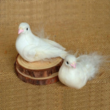 Min Order $10, Miniature Artificial Animal White Pigeon Bird Micro Landscaping Decoration Craft DIY Accessories(China)