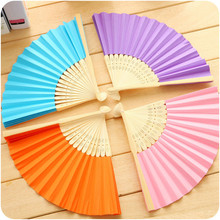 New Japanese Style Paper Folding Fans Cute Mini Household Bamboo Fan for Students Many Designs Available Free Shipping 5ZCF018(China)