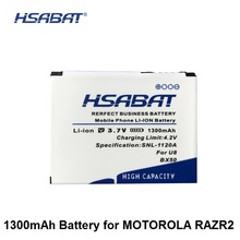 HSABAT 1300mAh BX50 Battery for MOTOROLA RAZR2 V9 RAZR2 V9m Q9 Q9m Q9h(China)