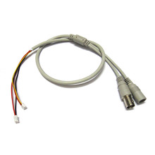Power Video Cable BNC & DC Connector to Stripped Wire cctv end cable 60cm with Terminals for PCB Board CCTV Camera