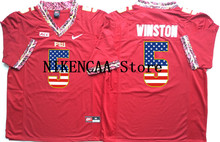 Nike 2016 Florida State Seminoles Red Wanston #5 Printing on the flag T-shirt Limited Jersey - White Size S,M,L,XL,2XL,3XL