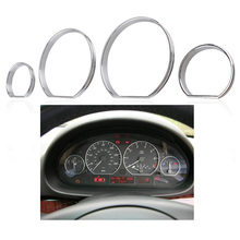New Styling Dashboard Gauge Dial Rings Bezel Trim Speedo AC/Tech Sport For BMW E46 3 Series Silver Car Light Rings Set
