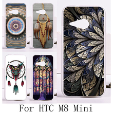 Soft Silicon TPU & Plastic Phone Covers Cases For HTC One 2 Mini M8 mini One mini 2 4.3'' Cases Dream Catcher Ethnic back cover