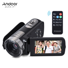 "Andoer HDV-302S Full HD 1080P Digital Video Camera 3"" LCD Touch Screen 16X 20MP Anti-shake Camcorder DV With Remote Shutter(China)"