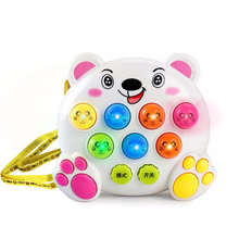 Whack-A-Mole Handheld Electronic Games Toys For Children Pet Machine Fight Rats Game Mini Musical Intelligent Interactive Toys(China)
