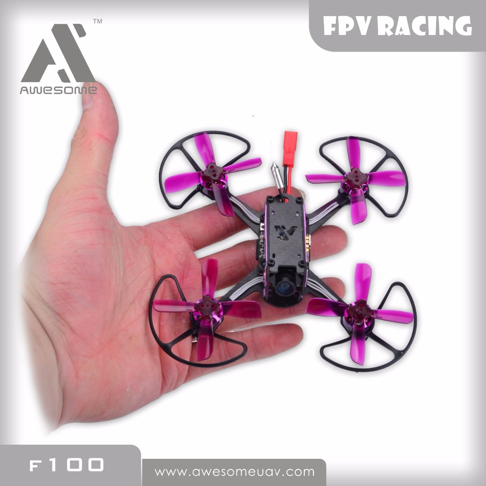 Awesome F100 mini FPV Racing Quadcopter Drone PNP RC Drone With Omnibus F3 OSD 5.8G 25mW Blheli_S 10A 600TVL Camera