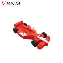 VBNM Racing car shape usb flash drive creative boy's gift, capacity 4G 8G 16G 32G usb flash drive Pendrive F1 automobile(China)