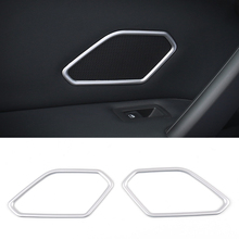For Volkswagen VW Tiguan MK2 2017 car audio speaker sound cover decorating interior trim moldings Sound Cover Trims Decoration(China)