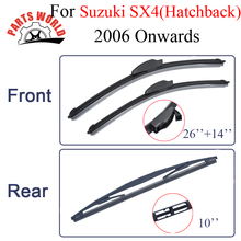 Partsworld Front And Rear Wiper Blades For Suzuki SX4(Hatchback)2006-2016 Windscreen Nature Rubber Wipers Car Accessories