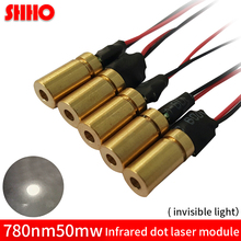 Buy Hot sale invisible light 780nm 50mw infrared dot laser module 6*18mm IR signal transmitter radar ranging laser focusing piont for $11.63 in AliExpress store