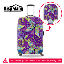 Dispalang new purple leaf print travel luggage suitcase protective covers apply to 18-30 inch case waterproof travel accessories