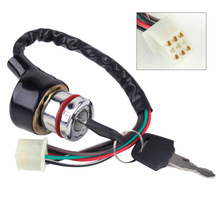 beler Car Motorcycle Ignition Switch 3 Position 6 Wire With 2 Keys fit for Harley Bobber Scooter Chopper Kawasaki ATV Go Kart(China)