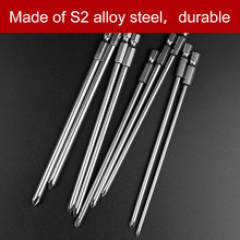 9pcs 150mm Magnetic Cross Philips Screwdriver Bit Set 1/4 inch 6.35mm Shank S2 alloy steel Long Hex Screwdriver Screw