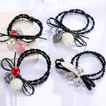 LNRRABC New 16Shapes Crystal Girls Hair Tie Rope Ring Fashion Durable Elastic Hair Bands Scrunchie Ponytail Hair Accessories(China)