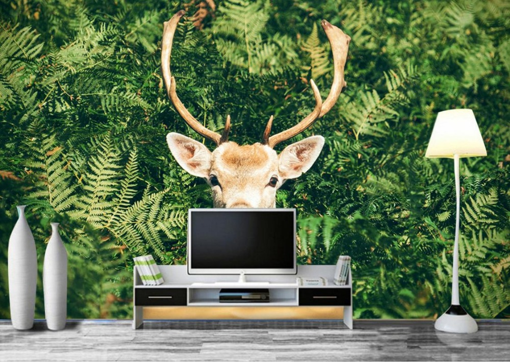 Modern style HD Wall paper Mural 3d animal Modern Backdrop 3d Photo Wallpaper Murals Living Room Landscape Wallpaper<br>