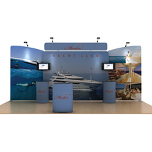 20ft portable Pop up stands Booth system backdrop wall trade show display exhibition TV brackect counter spotlights(China)