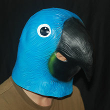 Free Shipping Funny Full Head Latex Parrot Mask China Manufacture Masquerade Cosplay Costumes Props