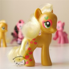 Action Figures 8cm Little Cute Horse Model Doll Big Apple Applejack  Anime Toys for Children