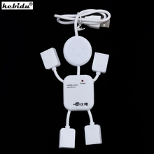 kebidu New Multi USB HUB Splitter High Speed 4 Port USB 2.0 Hub Robot Adapter For Camera Printer Game Mouse Car Reader Mp3(China)