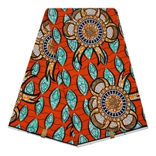 African ankara 100% cotton wax fabric embossing prints super wax fabric tissue 6 yards for dress textile