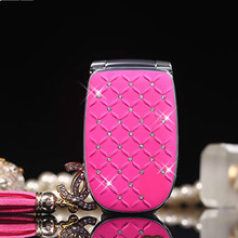 Unlocked Flip Phone W11 Russian Keyboard Lovely Diamond Small Women Kids Girls Diamond Cute Mini Mobile Cell Phones(China)