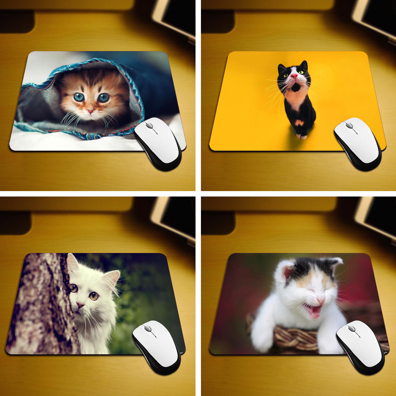 Cat Hqih Mouse Pad Size 18*22cm and 25*29cm<br><br>Aliexpress