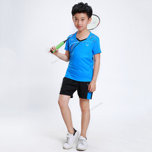 Adsmoney Polyester Children student badminton Jersey clothes,Table tennis sport shirt Quick Dry Breathable training t-shirs