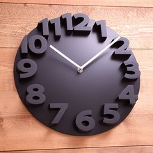 New fashion 3D wall clock modern design Art Decorative Dome Round Watch Bell clocks home decor birthday gifts(China)