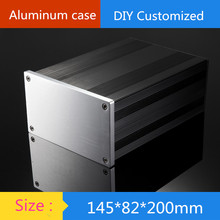aluminum amplifier chassis DAC Chassis HIFI tube amp chassis HTPC case / AMP Enclosure / case / DIY box ( 145 * 82 * 200 mm)(China)