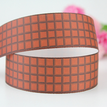 25mm Single Face scottish plaid ribbon printed grosgrain polyester webbing wedding gift wrap band 20 yards