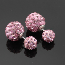 New Summer Style Fashion Ball Stud Earring Fine Jewelry boucle d'oreille Brincos Pendientes Double Sides Earrings for Women