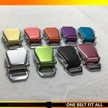 "Partial colored 1"" width airplane seat belt buckle safety clasp LIFT release Metal buckle for paracord bracelet lanyard keychain(China)"