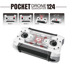 FQ777-124 RC Drone Mini Quadcopter Micro Pocket 4CH 6Axis Gyro Switchable Controller Helicopter Kids Toys VS JJRC H37 H31