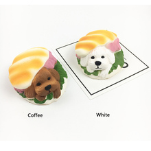 Jumbo Hamburger Dog Squishy Dessert Phone Straps Puppy Doll Bread Squeeze Slow Rising Soft Scented Cake Toys Gift P15