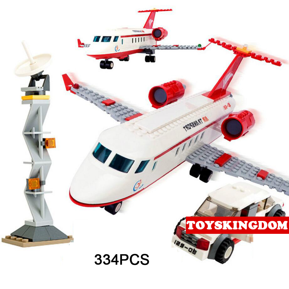 Hot City Series Aviation Private Aircraft Lepins Building Block Crew Passenger Figures Airplane Cars Bricks Toys for Kids Gifts<br>