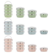Hifuar portable Lunch Box Stainless Steel Multilayer Insulation Lunchbox Child Food Storage Container Thermal Picnic Bento Box