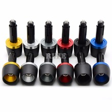"7/8""22mm CNC Universal Motorcycle Hand Bar Ends Handlebar Grips Ends for yamaha YZF R25 R3 R6 honda CBR500R CB500F cbr KTM bmw(China)"