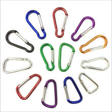 10pc Outdoor Multi Color Aluminium Alloy Safety Buckle Keychain Climbing Button Carabiner Snap hook Luggage bag Dog buckle AU089