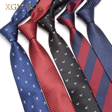 XGVOKH Men's skinny tie Wedding Ties Necktie for Men FREE GIFT Business 6cm Necktie Man Fashion Clothing shirt Accessories(China)