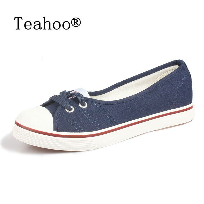 Women Shoes Ballet Flats Loafers Casual Breathable Women Flats Slip Fashion 2017 Canvas Flats Shoes Women Low Shallow Mouth