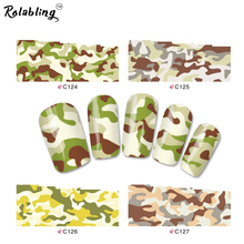 Rolabling Mix Styles Camouflage & Leopard Water Decals Designs full cover nail sticker Nail Art Stiker Nail decoration