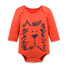 2017 Kavkas Baby Boy Clothes Newborn Baby Rompers Jumpsuits Autumn Winter Cute Design Long Sleeve 100% Cotton Baby Clothing