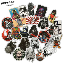 24Pcs/Lot Very Cool Styling Star Wars The Stickers For Car Pvc Waterproof Laptop Motorcycle Skateboard Luggage Decal Toy Sticker