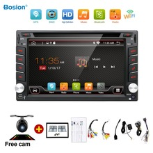 Universal 2 din Android 6.0 Car DVD player GPS+Wifi+Bluetooth+Radio+1GB CPU+DDR3+Capacitive Touch Screen+3G+car pc+audio(China)