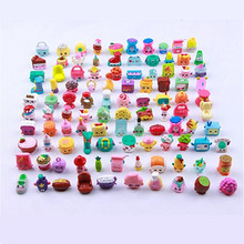 New 50 pieces Miniature Furniture Fruit Shopping Dolls Pretend Play Season 1 2 3 4 5 6 Action Figures Toys Kids Girls Gift(China)