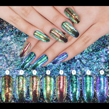 New 0.15-0.2g Chrome Flakes Bling Nail Flecks Powder Galaxy Glitter Powder  Nail Art Glitter Dust Solvent Resistant Glitter