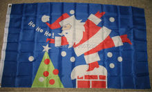 Merry Christmas Santa Claus Chimney Flag 3x5FT banner 100D 150X90CM Polyester brass grommets custom66, Free Shipping