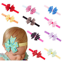 Newborn Bow Headband Hair Bowknot Headbands Hair Accessories Bow Headband Kids Hair Bands  w--073